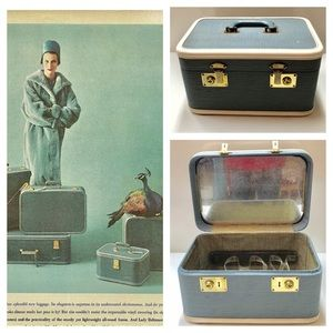 1950s Train Cosmetic Suitcase